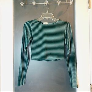 Heart & Hips | Stretchy Stripe Long Sleeve Croptop